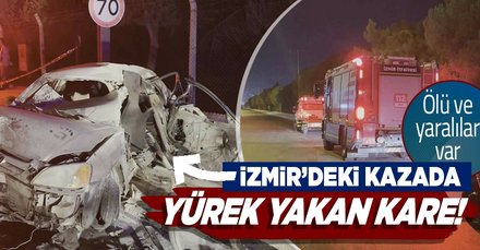 Son dakika: İzmir'de gece yarısı korkunç kaza! Alev alan araçtan ölü ve yaralılar çıkartıldı