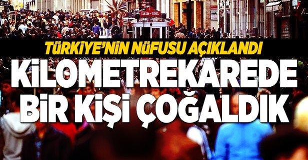 Türkiyenin nüfusu açıklandı
