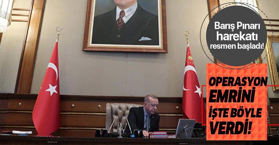 Başkan Erdoğan'ın Barış Pınarı Harekatı'nın emrini verdiği an!