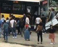Kağıthane'de İETT otobüsü kaza yaptı