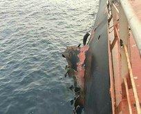 Türk gemisinde patlama