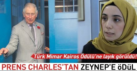 Prens Charlestan Zeynepe ödül