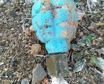 Çöplükte fünyesi çekilmiş el bombası bulundu