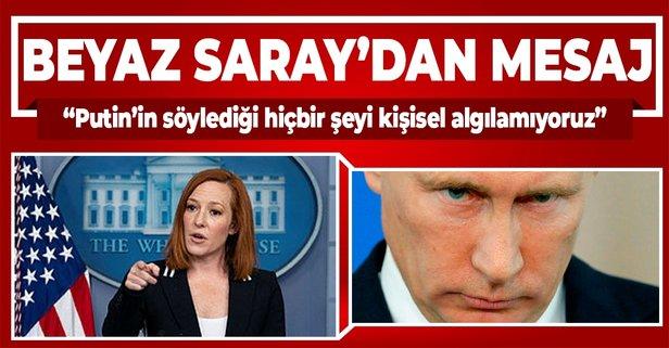 BeyazSaray'dan Putin'e mesaj