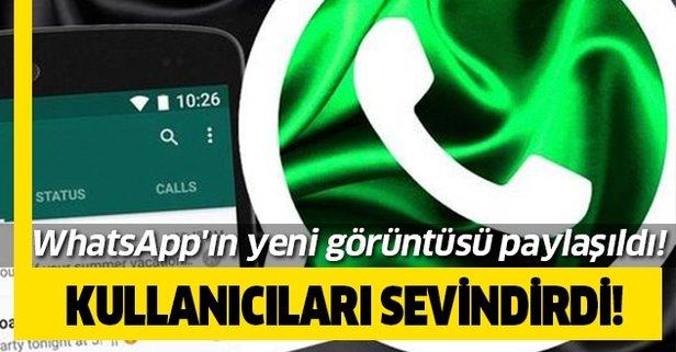 Milyonları sevindirdi! WhatsApp'ın yeni görüntüsü paylaşıldı