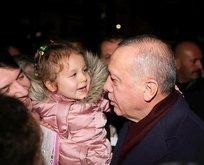 Başkan Erdoğan'ı görür görmez boynuna sarıldı