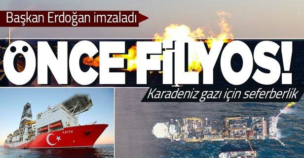 Başkan Erdoğan imzaladı! Karadeniz gazı için seferberlik