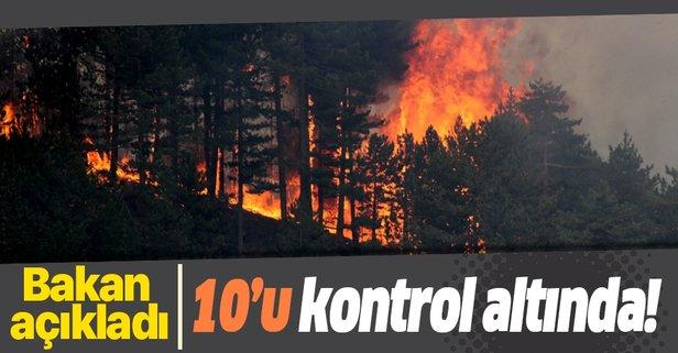 14 yangının 10'u kontrol altında!