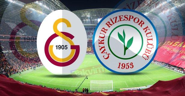 Galatasaray-Rizespor maçı saat kaçta?