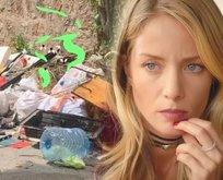 Büyükada'ya giden Bade İşçil'den çöp yığınlarına tepki!
