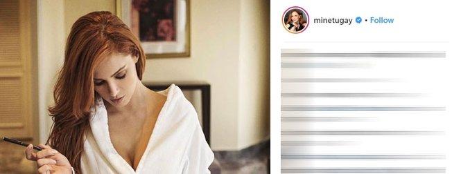 Mine Tugay'ın bornozlu paylaşımı sosyal medyada olay oldu! Mine Tugay kimdir?