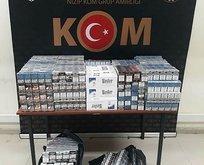 Gaziantep'te 3 bini aşkın kaçak sigara ele geçirildi