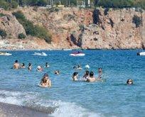Antalya'da ekimde deniz sefası