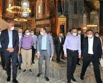 Ayasofya'da kritik inceleme! Dikkat çeken isimler