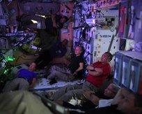Uzayda olmaz demeyin! Fransız astronot paylaştı