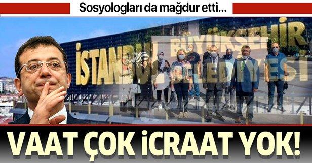 Sosyologlardan CHP'li Ekrem İmamoğlu'na protesto