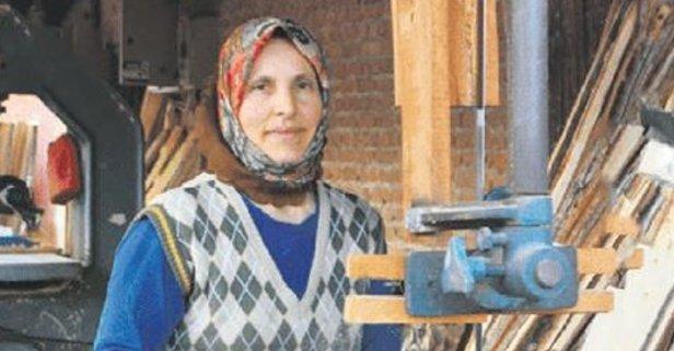 Kadın marangoz erkeklere rakip oldu