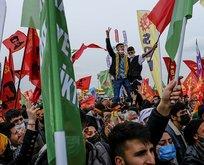 HDP'nin olaylı Nevruz etkinliğinde PKK sloganları...