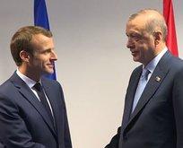 Erdoğan Macron ile görüştü