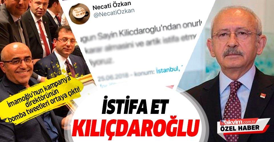 CHP'li İmamoğlu'nun kampanya direktörü Özkan, Kılıçdaroğlu'nun istifasını istemiş