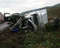 TEM Otoyolu'nda trafiği kilitleyen kaza