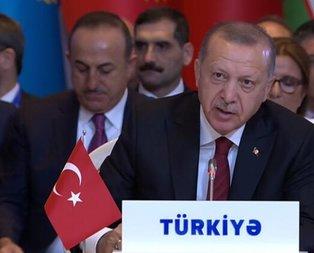 Başkan Erdoğan'dan 7. Türk Konseyi Zirvesinde önemli açıklamalar