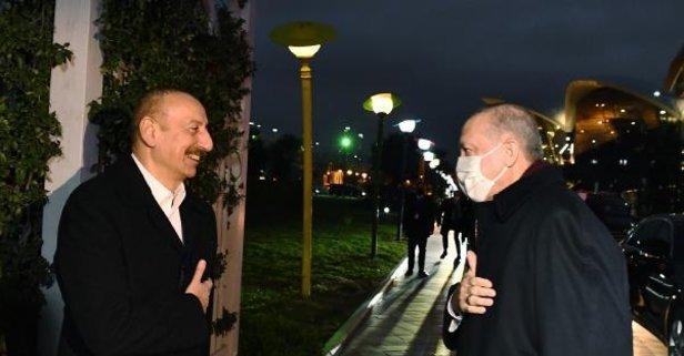 Başkan Erdoğan, Bakü'de akşam yemeğine katıldı