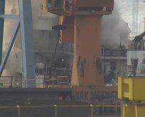 Tuzla'da gemi yangını! Çok sayıda ekip sevk edildi