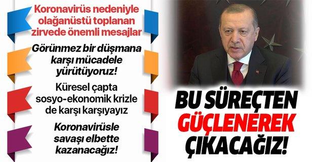 Erdoğan'dan Türk Konseyi Zirvesinde önemli açıklamalar