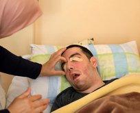 Gözlerini 6 yıldır yara bandıyla kapatıyor