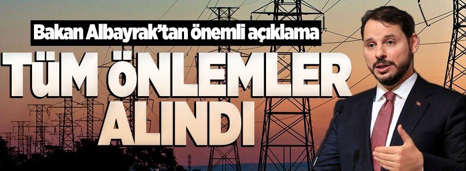 Bakan Albayrak: Enerji iletim hatlarındaki arıza sayıları önemli ölçüde azaldı