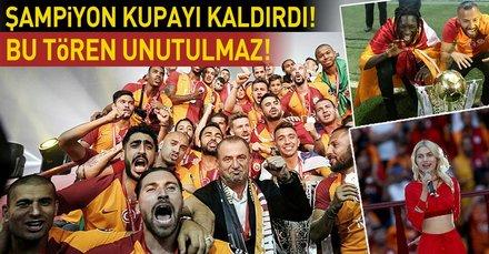 Galatasaray 21.şampiyonluğunu böyle kutladı