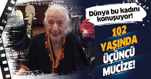 102 yaşındaki kadın virüse karşı rekor kırdı!