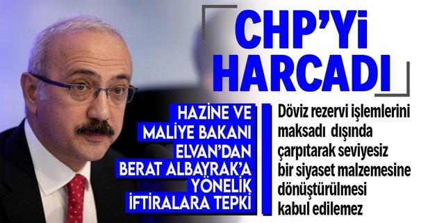 Elvan'dan CHP'ye tepki