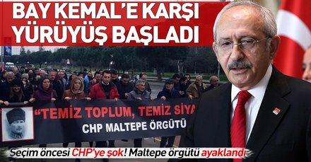 CHP'liler Kılıçdaroğlu'nu protesto etmek için 'Temiz toplum, temiz siyaset' yürüyüşü başlattı