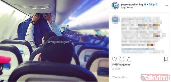 Uçakta iğrenç olay şoke etti! Bir yolcu çekti! Görenler şaştı kaldı