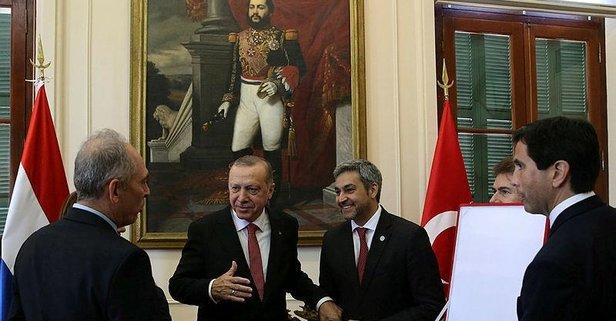 Başkan Erdoğan'a Paraguay'da Devlet Nişanı