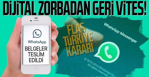 WhatsApp'tan flaş karar! Belgeler teslim edildi