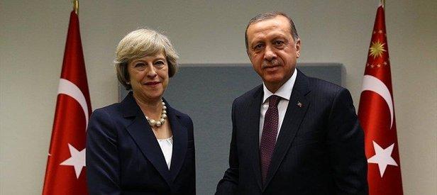 Erdoğan'dan May'e taziye telefonu
