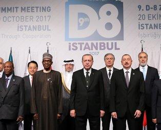 Cumhurbaşkanı Erdoğan: D-8 tarihinde bir devrime imza atarız