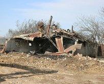 12 evin kül olduğu köydekiler geceyi oralarda geçirdi