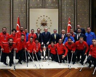 Erdoğan Ampute Milli Takımını kabul etti
