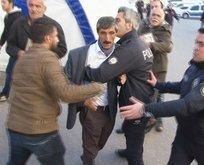 HDP'li vekillerinin binaya gelmesi acılı aileleri çıldırttı!