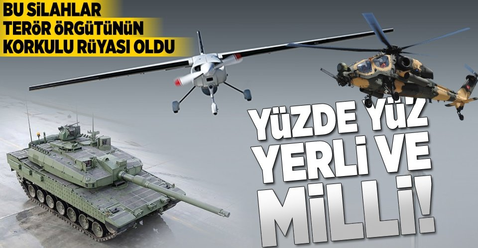 İşte Türk mühendislerinin geliştirdiği silah ve araçlar