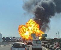 İtalyada büyük patlama! İşte ilk görüntüler