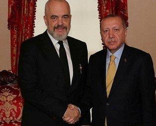 Başkan Erdoğan, Edi Rama'yı kabul etti