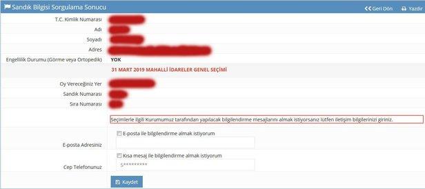 Ysk Açıkladı Nerede Hangi Sandıkta Oy Kullanacağım Ysk 31 Mart