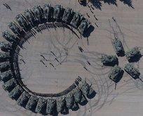 Silopi'deki tank taburundan 'ayyıldızlı' gösteri