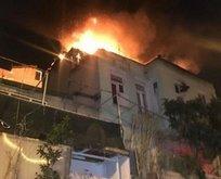 İstanbul'da 3 katlı binada yangın!