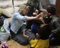 Gamze Özçelik Suriyeli aileyle iftar yaptı